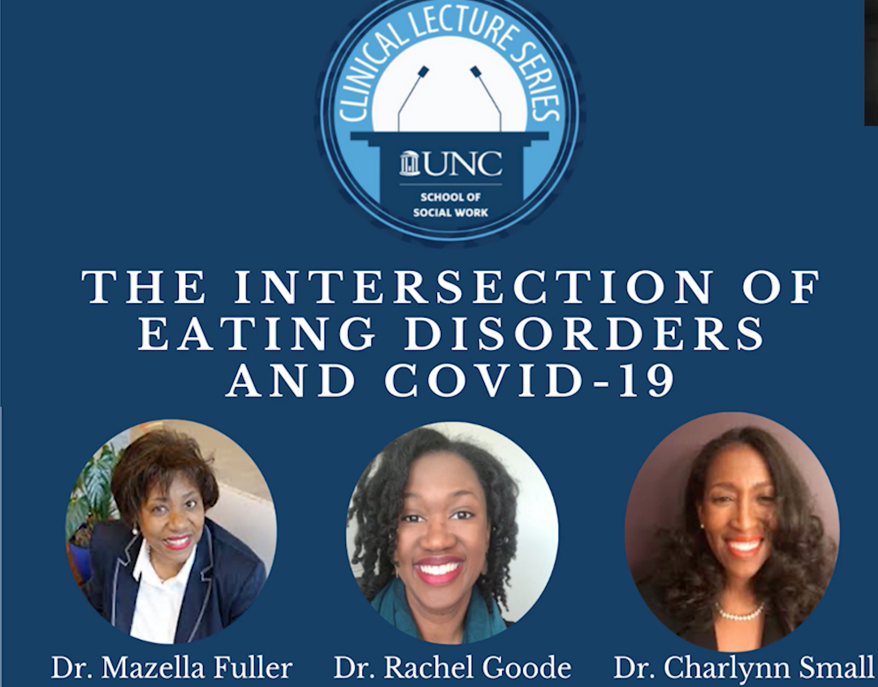 Clinical Lecture Series: Eating Disorders During COVID-19
